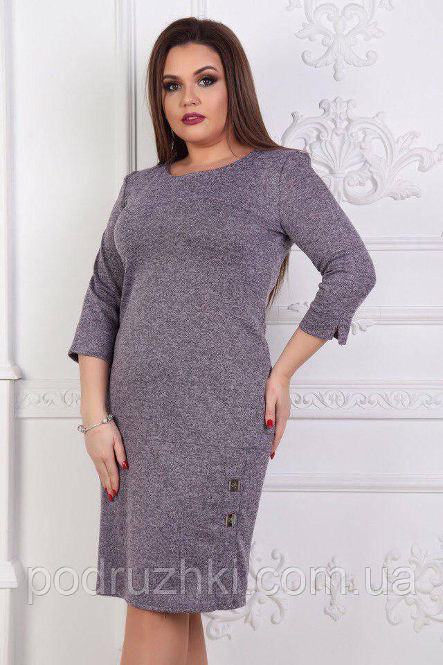 ed1b3936b4f Теплое женское платье большого размера-батал (расцветки)   продажа ...