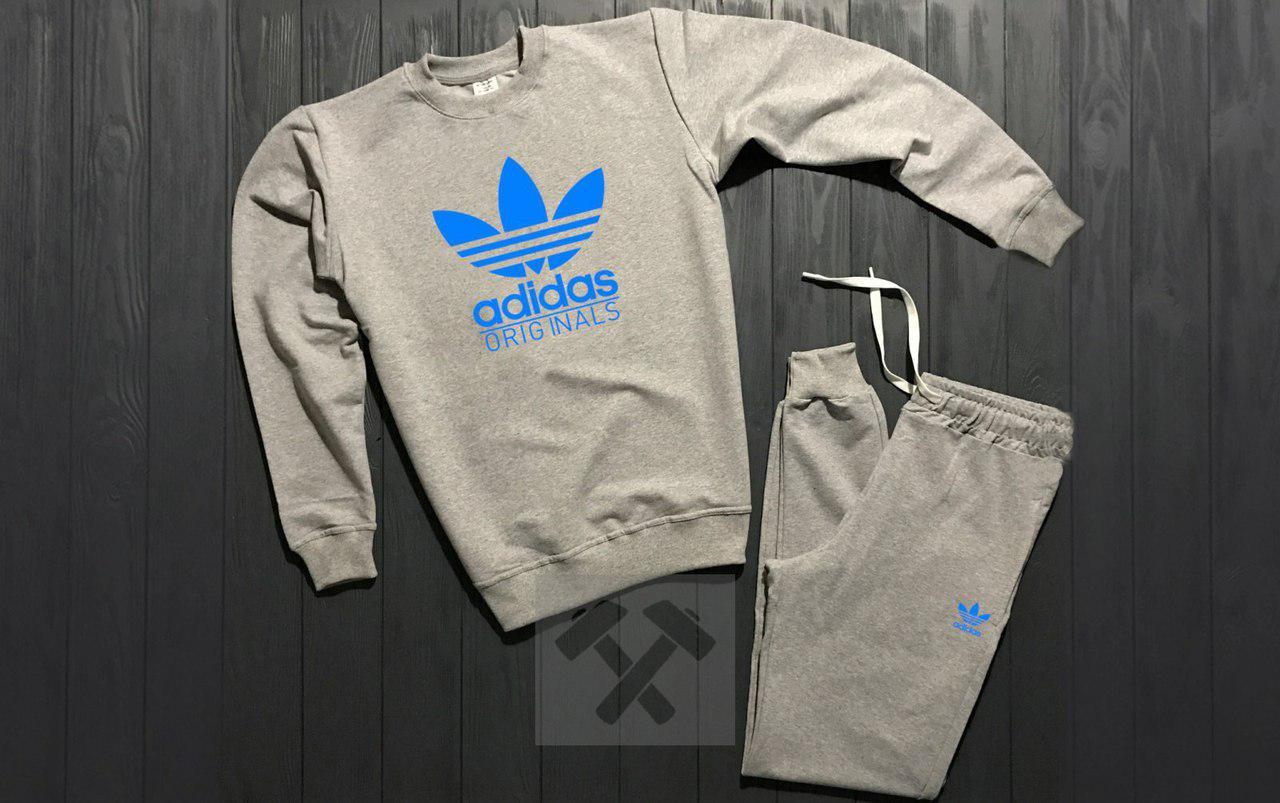 Костюм спортивный Adidas серый топ реплика