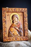 Икона резная/ Божья Матерь / Богородица/Дева Мария
