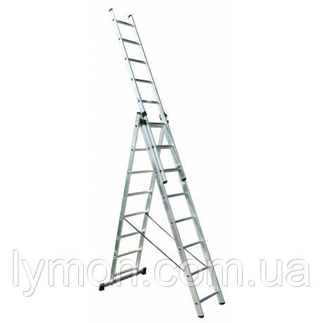 Лестница 3-х секционная универсальная Werk  3х8 LZ3208B, фото 2