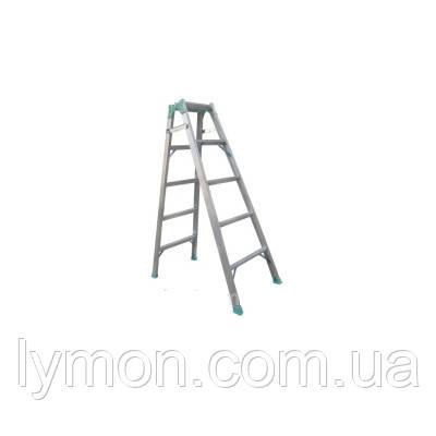 Стремянка DRABEST 4-х ступенчатая двухсторонняя алюминиевая