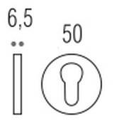 Colombo Накладка PZ FF 13  матовый графит под цилиндр