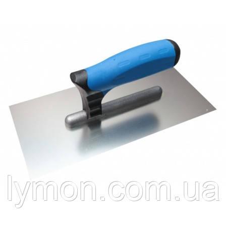 Кубала 0240 Терка нерж. 130*270мм глад. синяя ручка