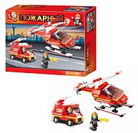 """Конструктор """"SLUBAN"""" """"Пожарные спасатели"""" 211 деталей.Детская игра конструктор для мальчиков."""