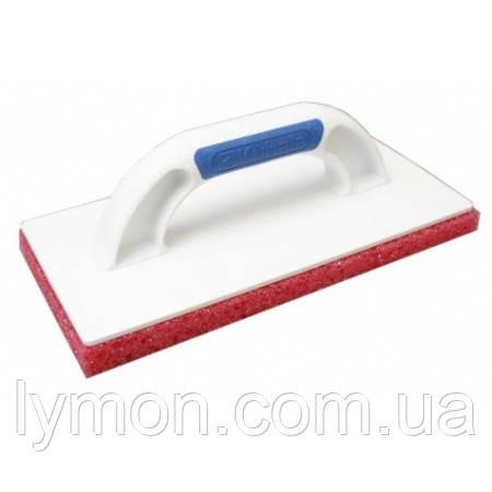 Кубала 0385 Терка пластик с крупнопор губкой 140х280мм