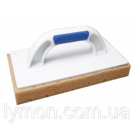 Кубала 0387 Терка пластик с нарезанной губкой 140х280мм