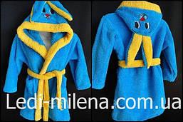 Красивый махровый халат для девочки Зайка, фото 2