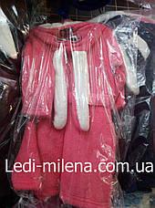 Красивый махровый халат для девочки Зайка, фото 3