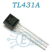 TL431A, регулируемый источник опорного напряжения, 2.495В до 36В, TO92