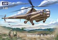1:48 Сборная модель вертолета R-5/S-51, AMP 48002