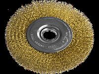 Щітка для КШМ, 150 мм, 22,2 мм, плоска рифлена, фото 1