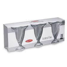 Набор стеклянных креманок для мороженого Pasabahce Айсвиль 3 шт 130х114мм (51078), фото 2