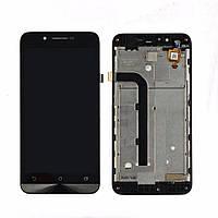 Дисплей (экран) для Asus ZenFone Go (ZC500TG) + тачскрин, цвет черный, с передней панелью