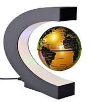 Антигравитационный летающий плавающий глобус левитрон Globe Golden, фото 1
