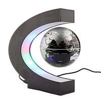 Антигравитационный летающий плавающий глобус левитрон Globe Silver, фото 1