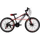Подростковый велосипед Titan Smart 24 дюймов черно-синий, фото 5