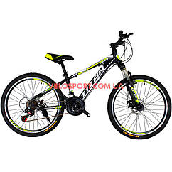 Подростковый велосипед Titan Smart 24 дюймов черно-желтый