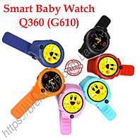 Детские часы с GPS трекером Q360 (G610) с камерой и фонариком (оригинал)