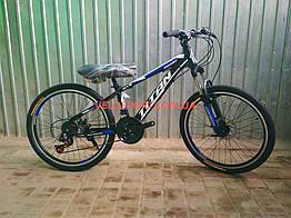 Подростковый велосипед Titan Smart 24 дюймов черно-синий