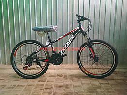 Подростковый велосипед Titan Smart 24 дюймов черно-красный