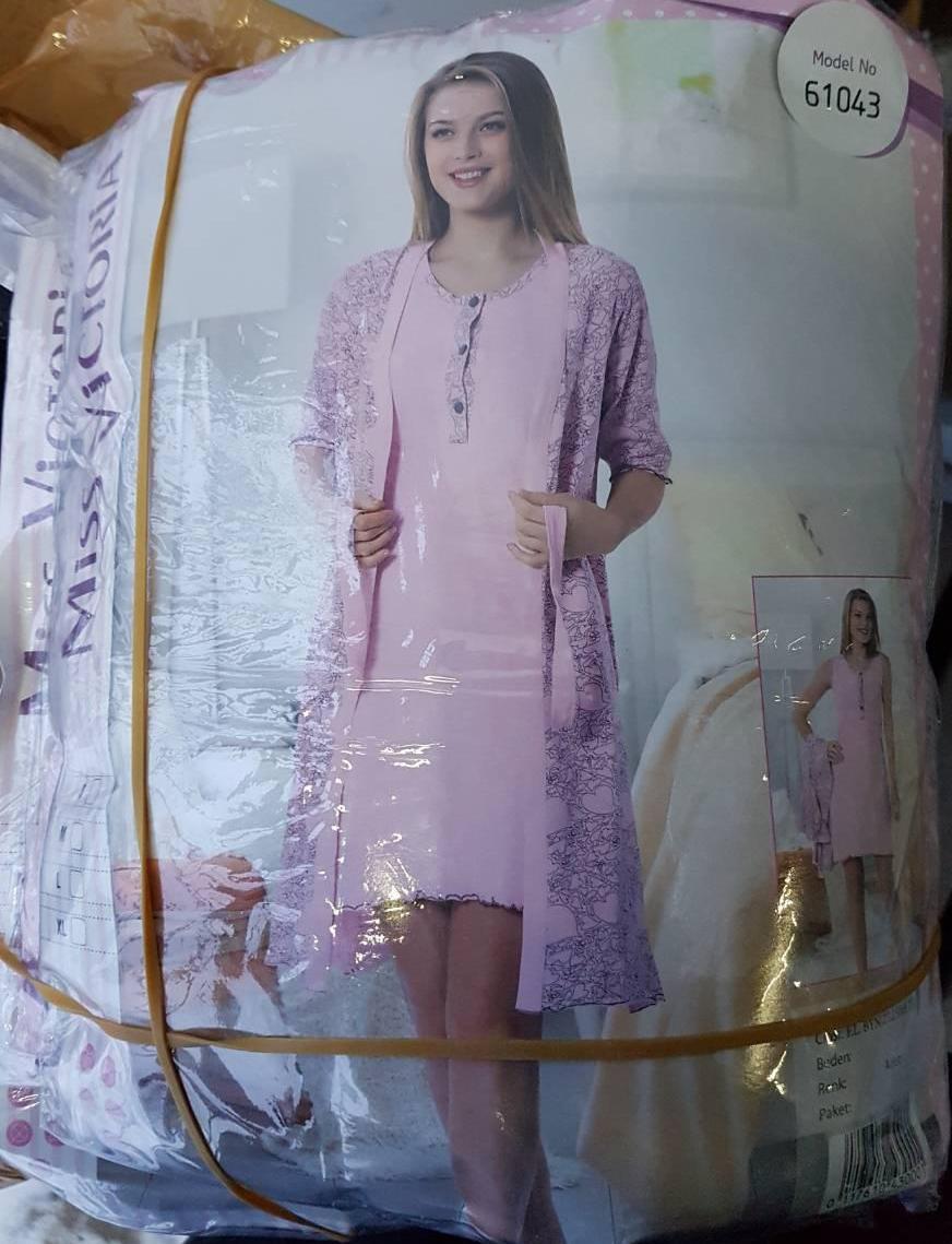 Женский комплект халат с ночной рубашкой №61043