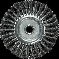 Щітка для КШМ, 150 мм, 22,2 мм, плоска кручена, фото 1