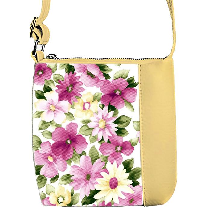 Бежевая детская сумка с рисунком Нежные Цветы