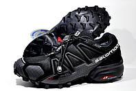 Кроссовки мужские в стиле Salomon Speedcross 4 GTX, Чёрные