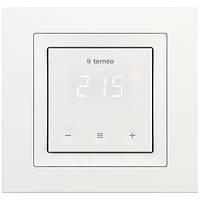Терморегулятор для теплого пола c сенсорным управлением terneo s unic белый