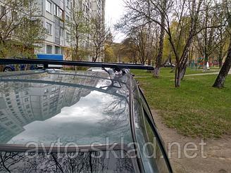 Багажник на рейлинги универсальный 2 попереччины 2111, Приора, иномарки