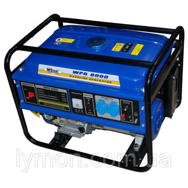 Бензогенератор Werk WPG8000 ( 6.5 кВт),бак 25л(8час.беспер.раб)