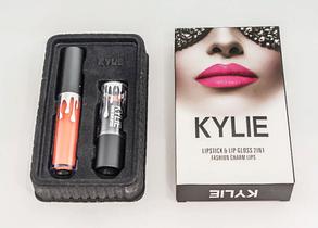 Набор помада + блеск Kylie Jenner Lipstick Lip Gloss 2 in 1, фото 2