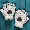 Серые лапки перчатки с когтями