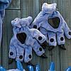 Синие лапки перчатки с когтями