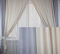 """Комплект готовых штор """"Лен"""",  2 шторы размером по 1.75*2,45м. Код е352"""