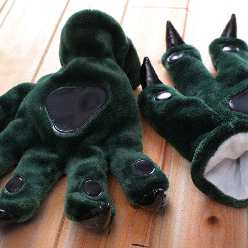 Зеленые лапки перчатки с когтями