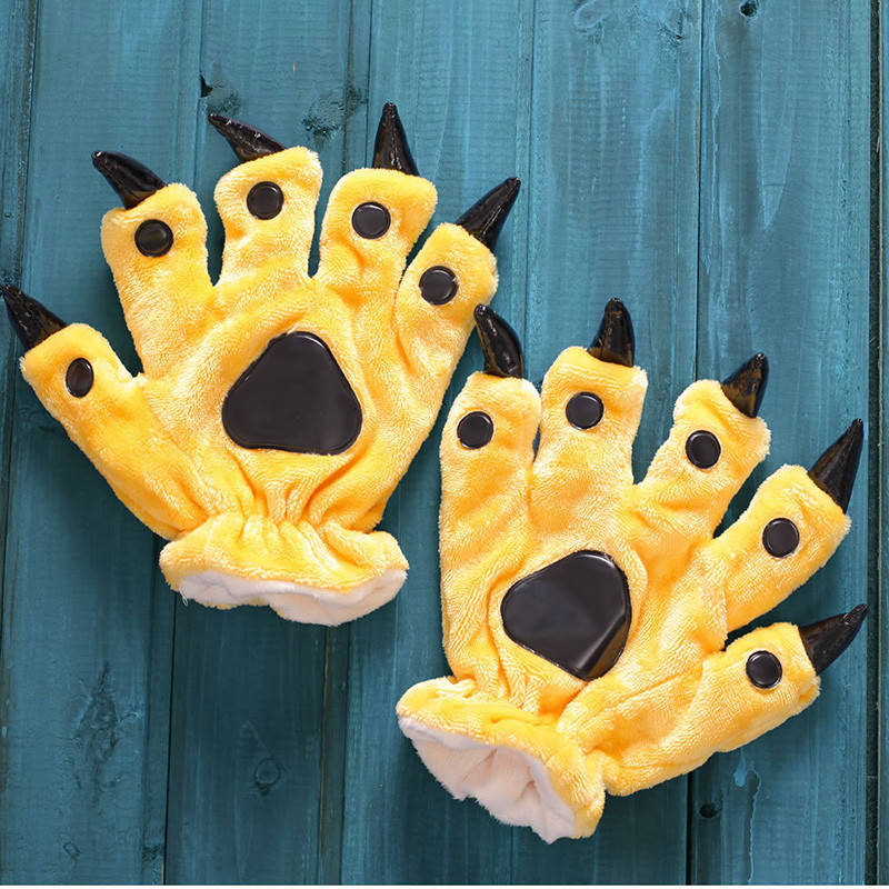 Желтые лапки перчатки с когтями