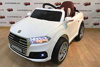 Детский электромобиль КХ7979 Audi Кожаное сиденье, на EVA Резине, 4 Амортизатора, белый дитячий електромобіль