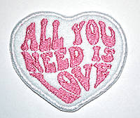 Нашивка патч All you need is love