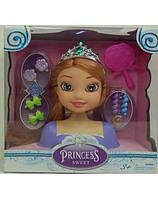 Кукла-модель, манекен, (голова куклы) принцесса для причесок в коробке 21*21*8,5 см. с аксессуарами.