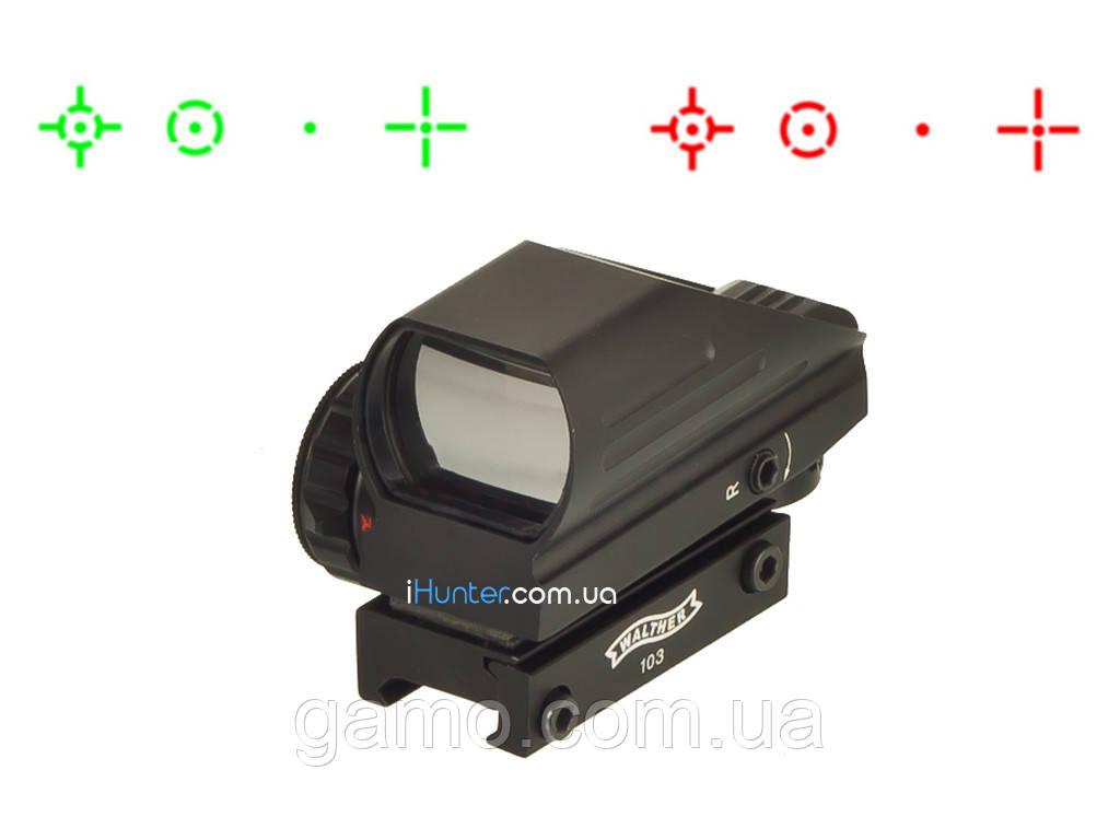 Коллиматорный прицел Walther 103HD на планку Weaver/Picatinny