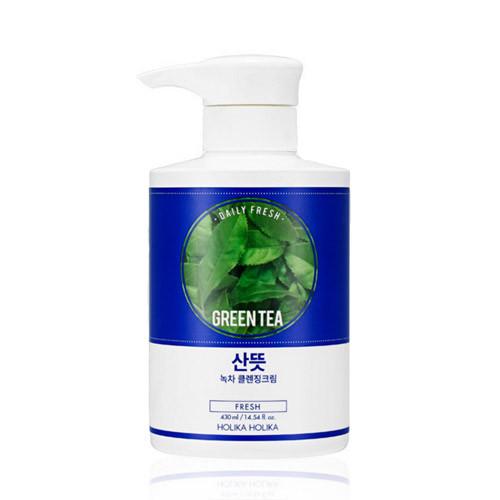 Очищающий крем с зеленым чаем Holika Holika Daily Fresh Green Tea Cleansing Cream