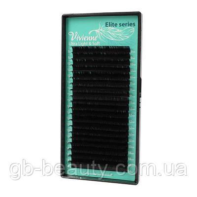 Черные ресницы в ЛЕНТАХ растяжка Elite 0,1 B-J 6-12 (20 линий) NEW