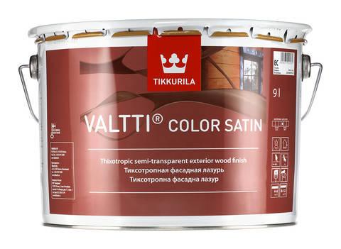 Фасадная лазурь на масляной основе с сатиновым блеском Валти Колор Сатин (Valtti Color Satin), EC, 2,7л, фото 2