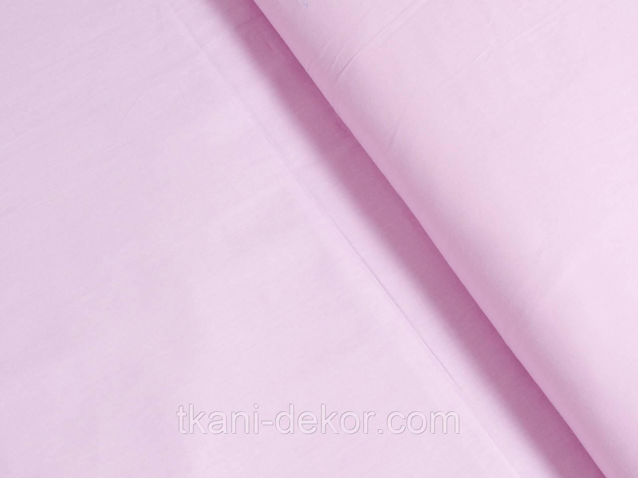 Сатин (хлопковая ткань) лиловый однотон