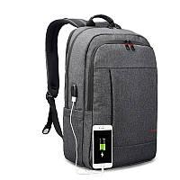 """Фирменный рюкзак для ноутбука 15,6"""" Тigernu T-B3142 USB тёмно-серый, фото 1"""