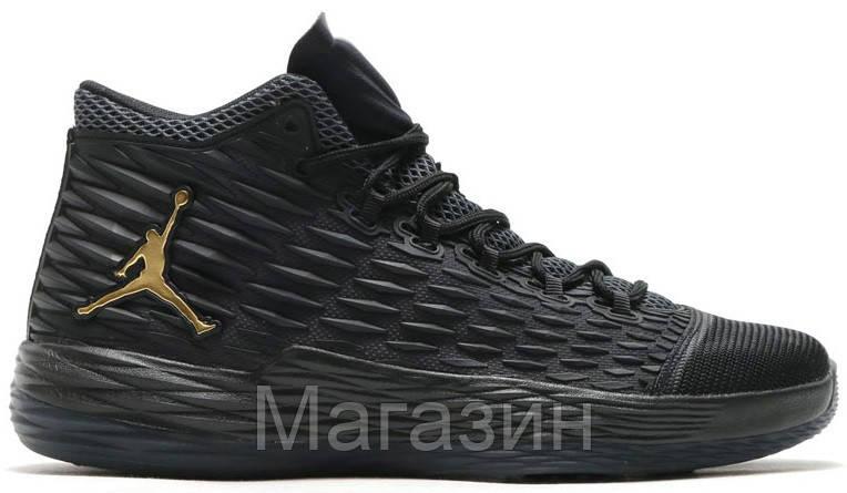 Баскетбольные кроссовки Jordan Melo M13 Black (Найк Аир Джордан 13) в стиле  черные 84794bf11e6