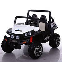 Детский 4-х моторный электромобиль джип Багги M 3454 EBLR-1, кожаное сиденье и мягкие колеса