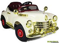 Детский электромобиль ретро M 1504 R-13 (HJ 8888) ПЛИМУТ бежевый - колеса надувные