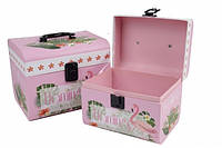Набор подарочных коробок Фламинго, чемоданчик 2 шт